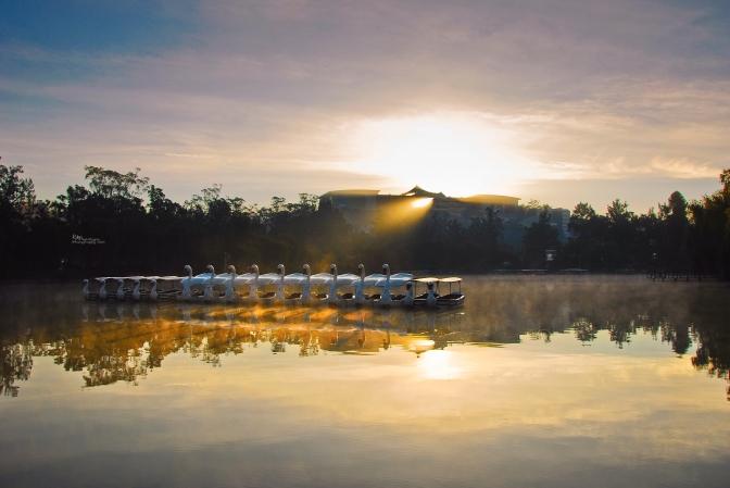 Benderdonedat Burnham Park lake